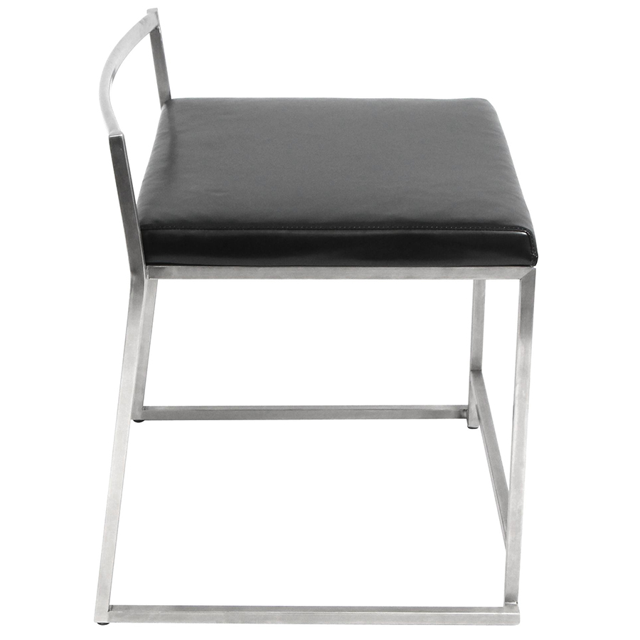 Finland Modern Stacking Dining Chair - Side View