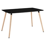 Fleetwood Black Modern Dining Table