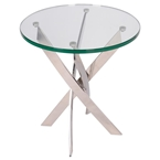 francisco modern glass end table