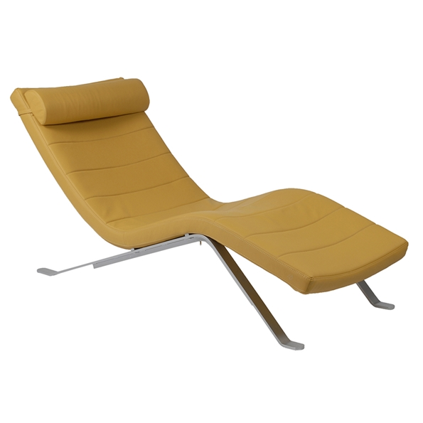 Modern lounger gillian saffron chaise lounge eurway for Big and tall chaise lounge