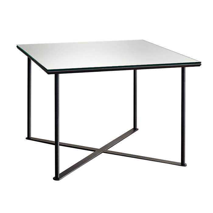 Glance Modern Mirrored Glass Coffee Table