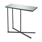 Glance Modern Mirrored Glass End Table