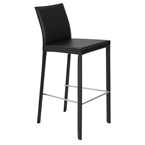 heather black modern bar stool