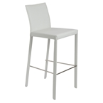 heather white modern bar stool