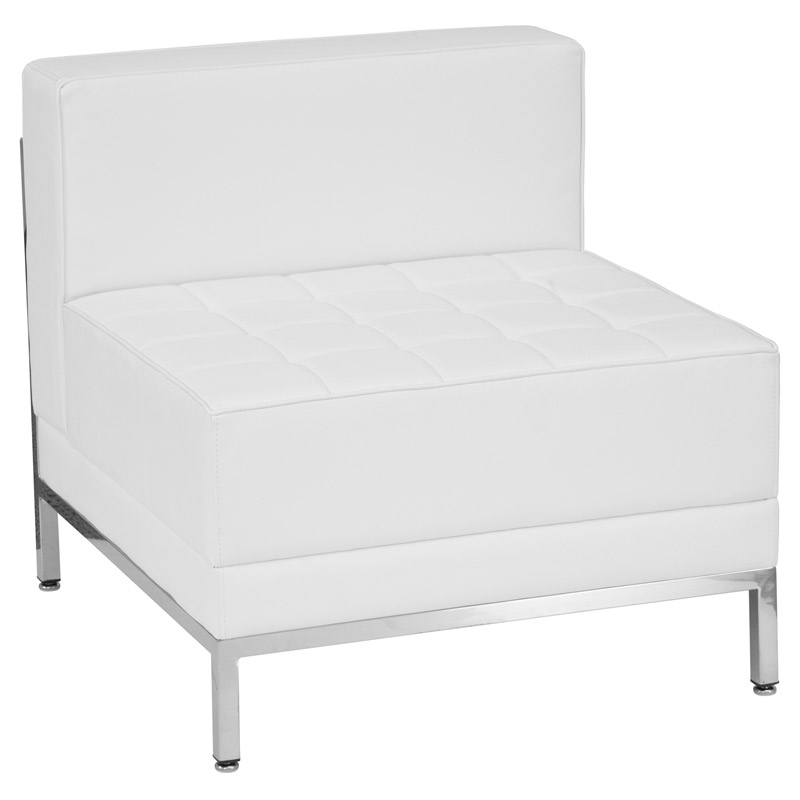 Innsbruck white modern armless chair