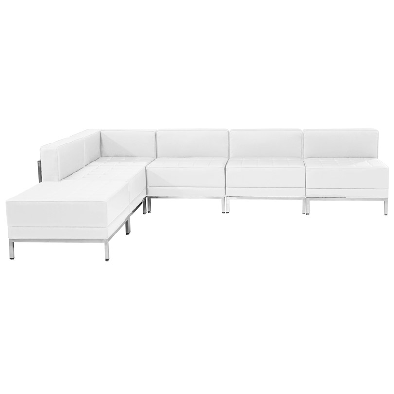 Innsbruck White Left Arm Modular Sectional Configuration