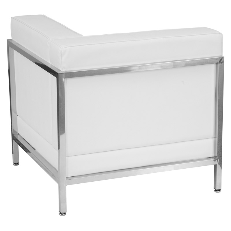 Innsbruck White Left Arm Corner Chair - Back