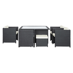 Inverness Modern Outdoor Dining Table Set
