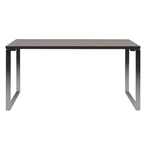 jerry modern desk - wenge and stainless steel
