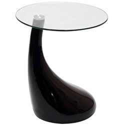 Juliet Modern Side Table in Black
