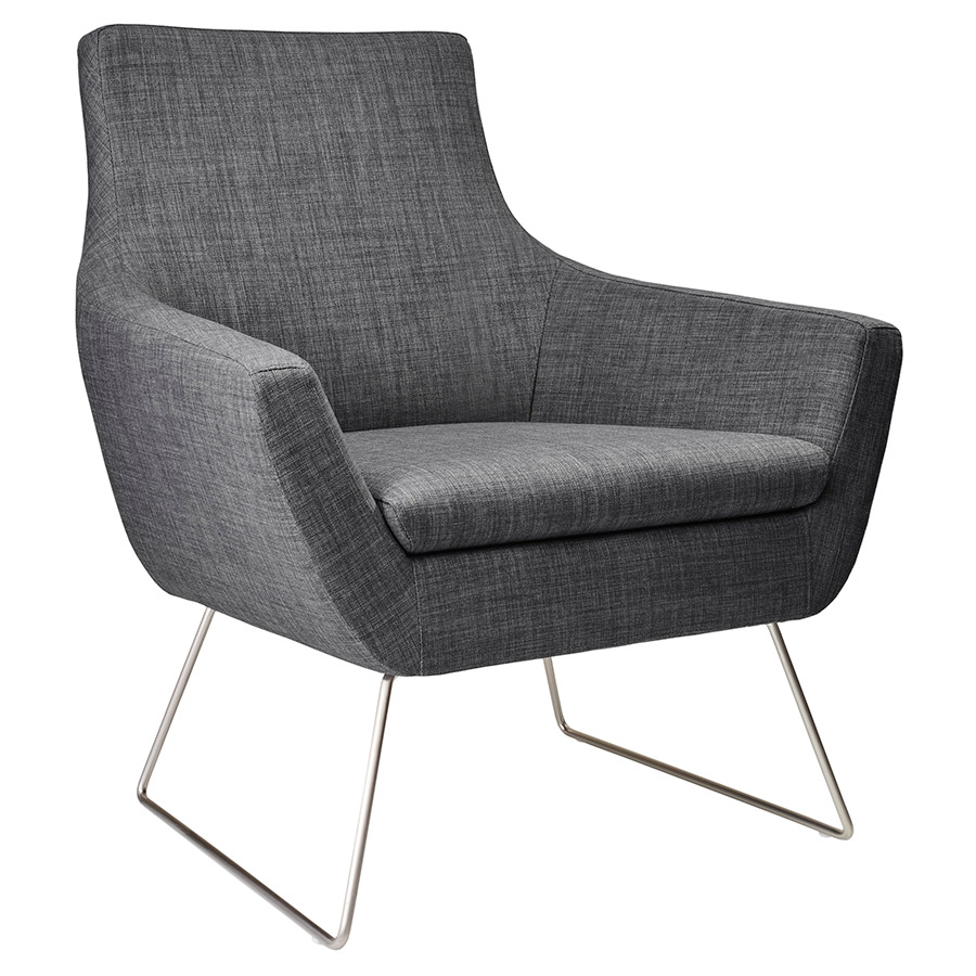 Modern chairs kimmel charcoal chair eurway modern for Contemporary lounge furniture