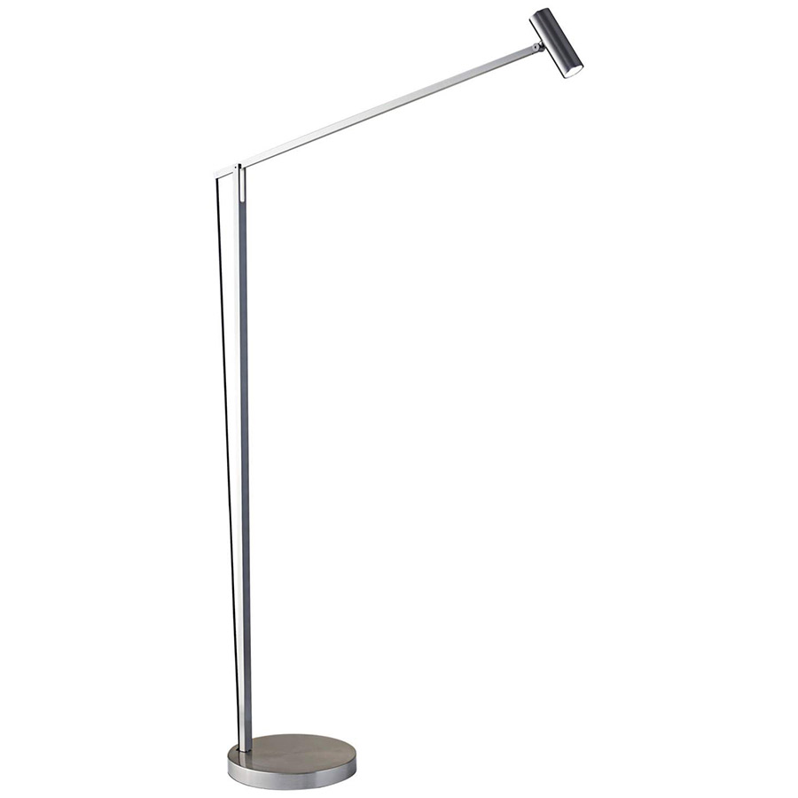 Kraan Brushed Steel Modern LED Floor Lamp