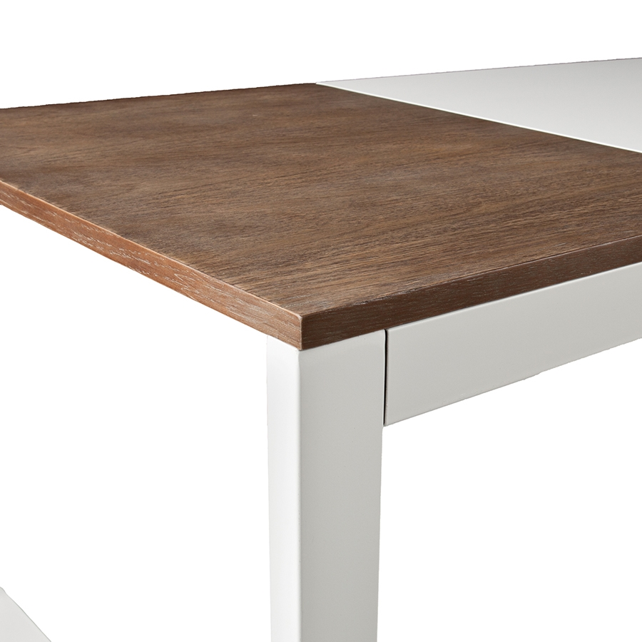 Landis Modern Cocktail Table - Wood Section