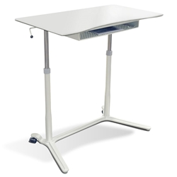 Legacy Lift Desk in White/White