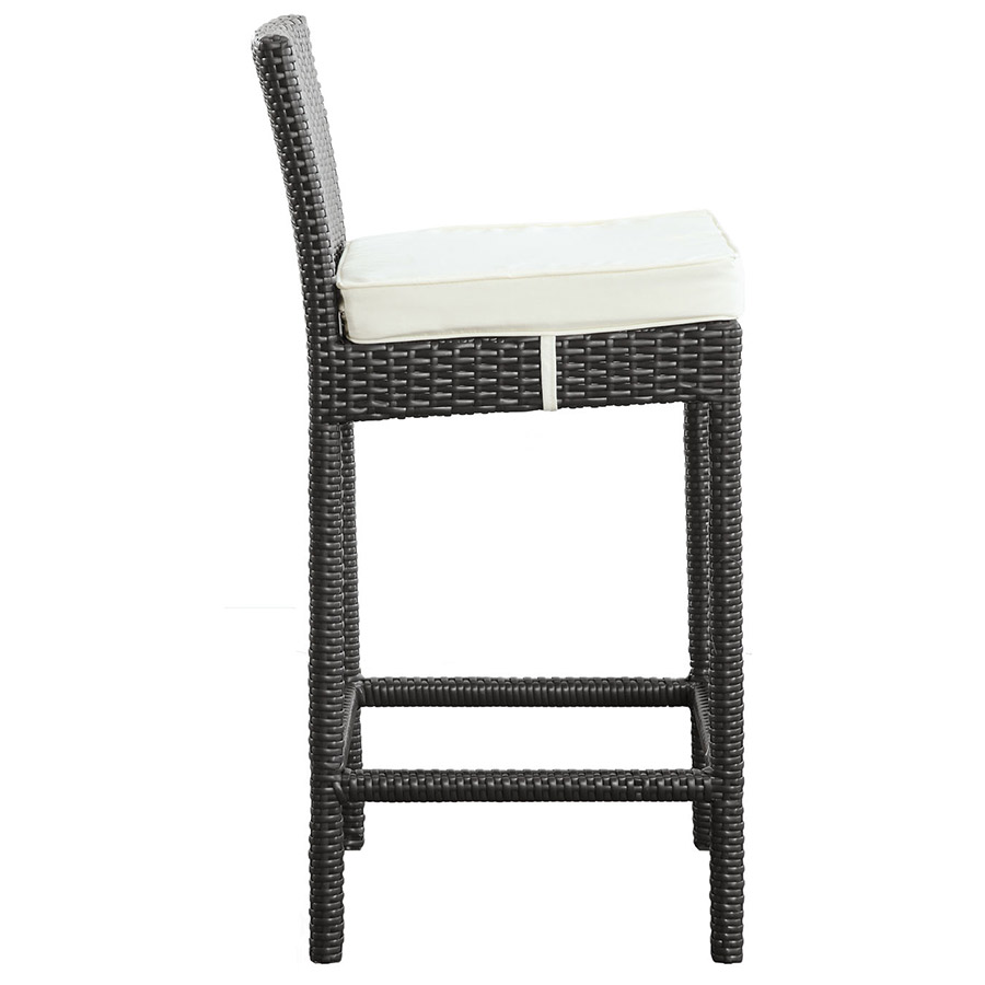 Lynx Modern Outdoor Bar Stool - Side View