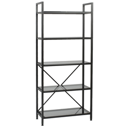 Madras Graphite 5-Shelf Etagere