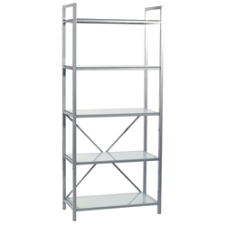 Madras Silver 5-Shelf Etagere