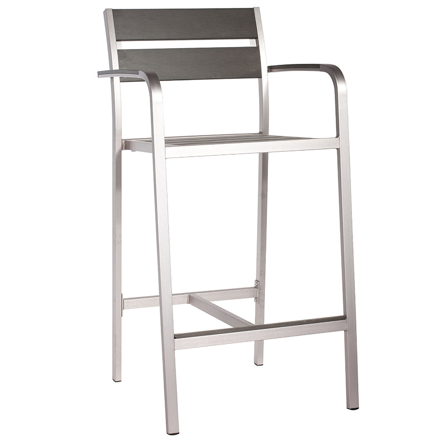 Martin Modern Outdoor Bar Stool with Arms