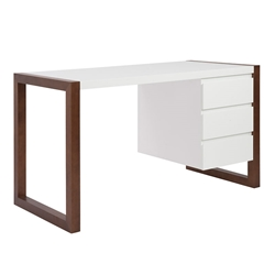 mesa modern desk with cabinet