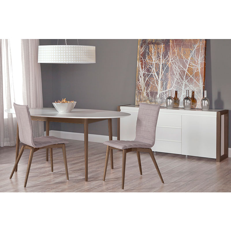 Mesa Oval Dining Table + Yuma Dining Chairs