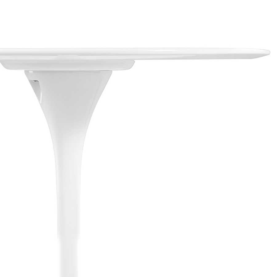 Odyssey 36 Inch White Fiberglass Dining Table