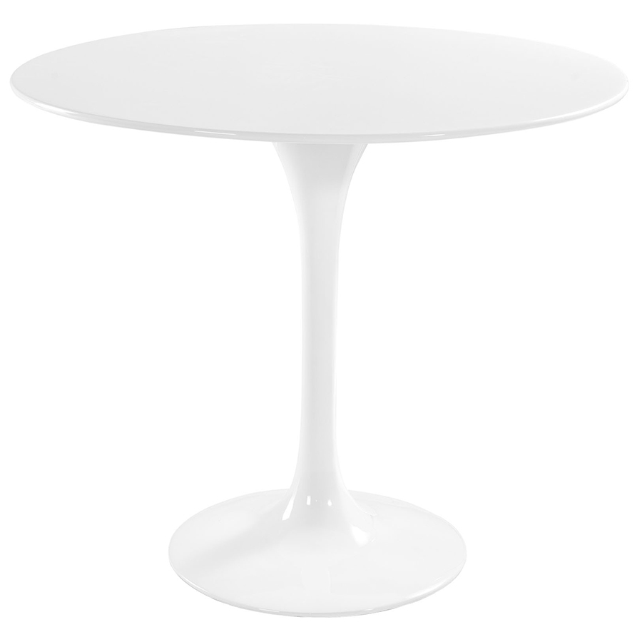 Odyssey 36 Quot Round Modern White Dining Table Eurway