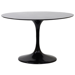 Odyssey 47 Inch Black Fiberglass Dining Table