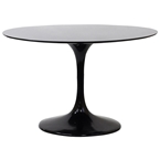 Odyssey 48 Inch Black Fiberglass Dining Table