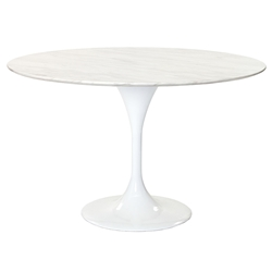 odyssey 48 inch modern round marble dining table