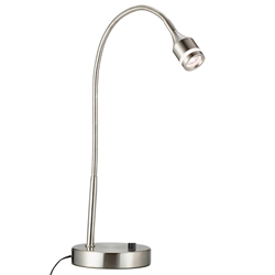 Patterson Satin Steel Modern LED Desk Lamp