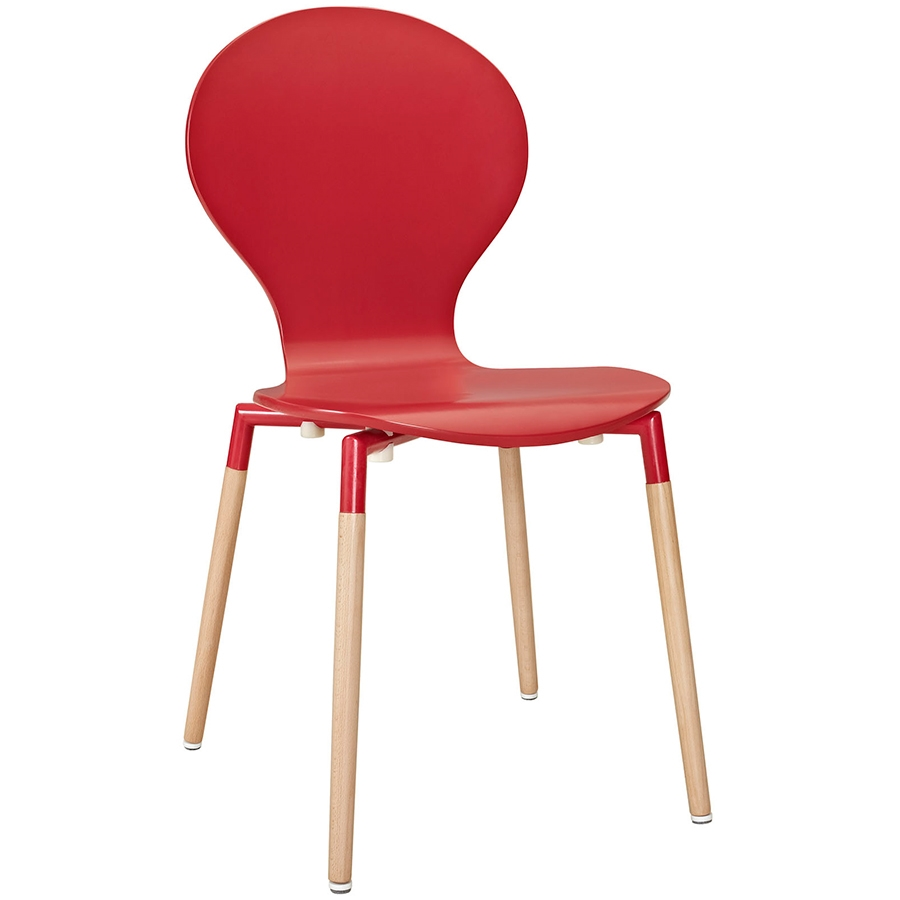 Portugal Red Modern Dining Chair