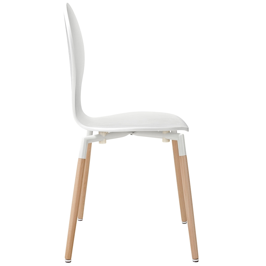 Portugal White Modern Dining Chair Modern Dining Chair - Seat Detail