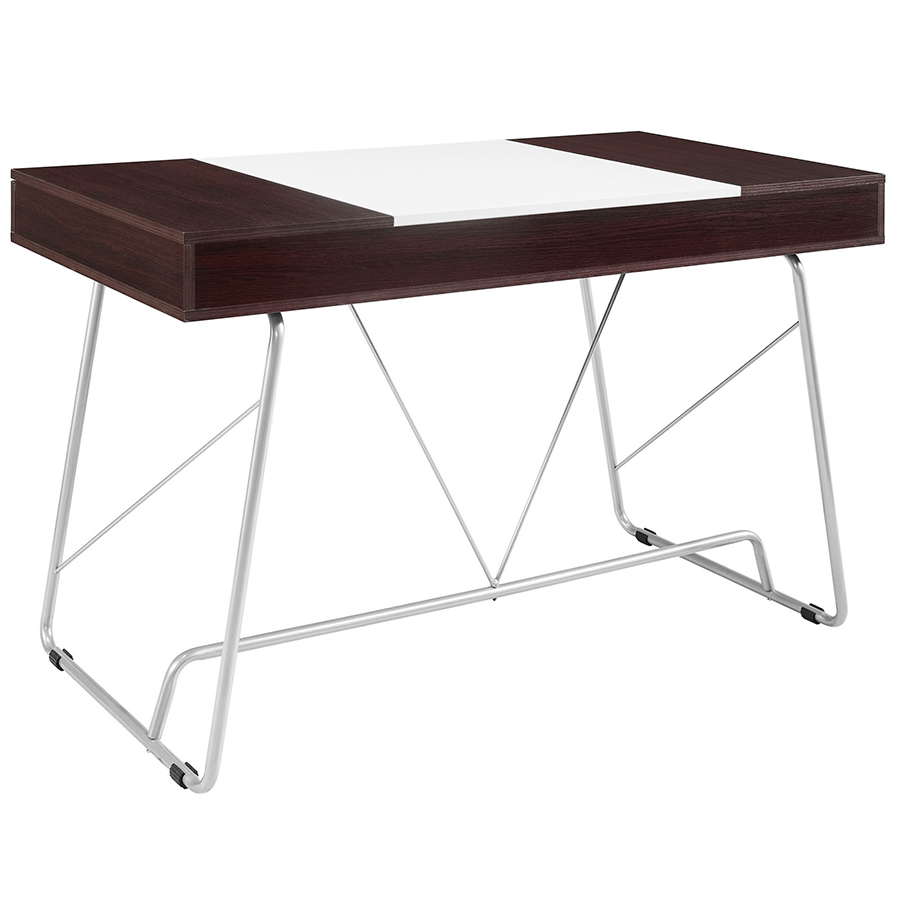 Powell Modern Cherry Desk - Back View