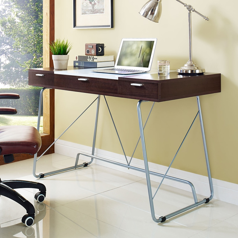 Powell Contemporary Cherry Desk