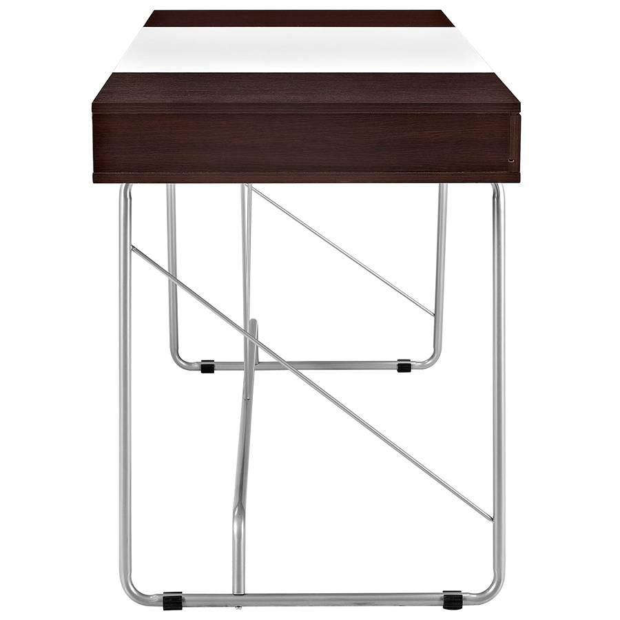 Powell Modern Cherry Desk - Side View