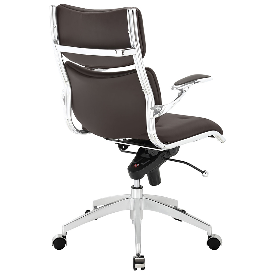 Princeton Modern Brown Office Chair - Back View