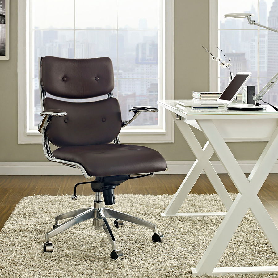 Princeton Contemporary Brown Office Chair