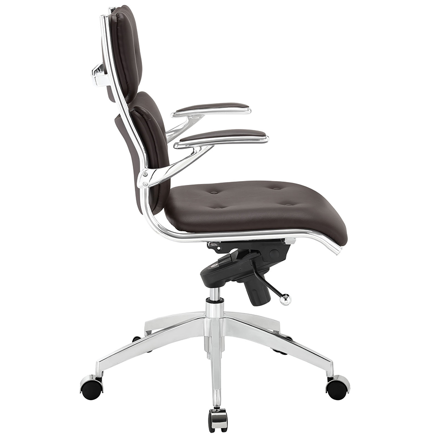 Princeton Modern Brown Office Chair - Side View