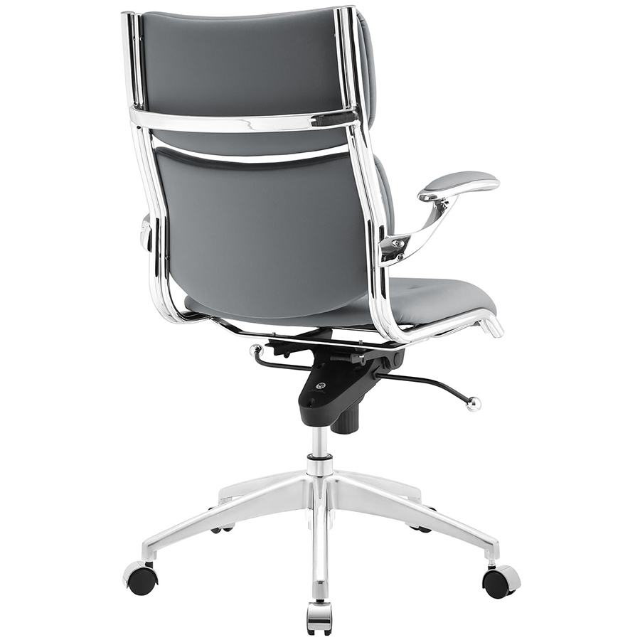 Princeton Modern Gray Office Chair - Back View