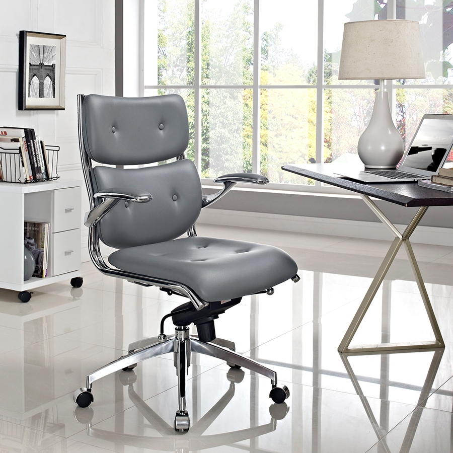 Princeton Contemporary Gray Office Chair