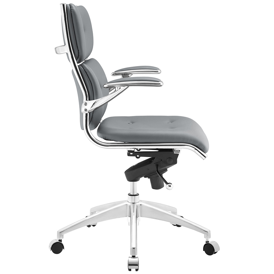 Princeton Modern Gray Office Chair - Side View