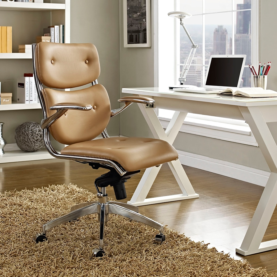 Princeton Contemporary Tan Office Chair
