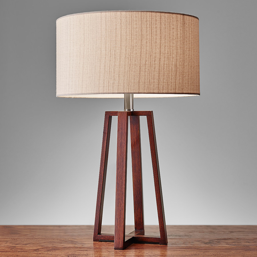 Quincy Modern Wooden Table Lamp