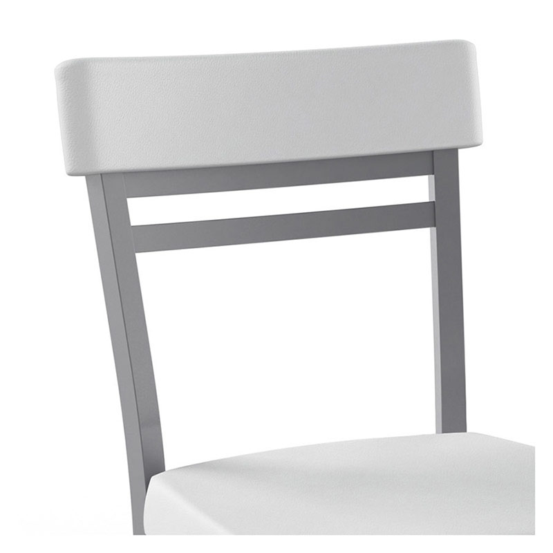 Roland Dining Chair in Platina and White- Chair Back