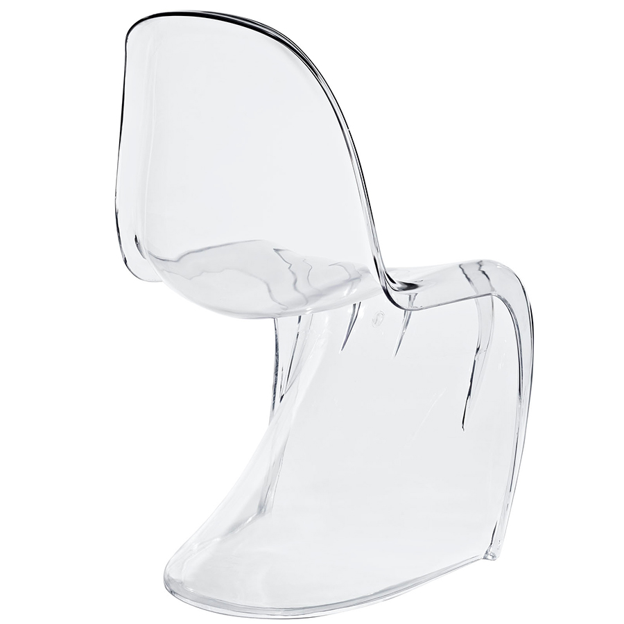 S Acrylic Dining Chair - Back View