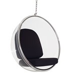scoop modern hanging chair with chain