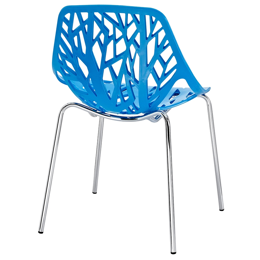 Sequoia Blue Modern Dining Chair - Back View