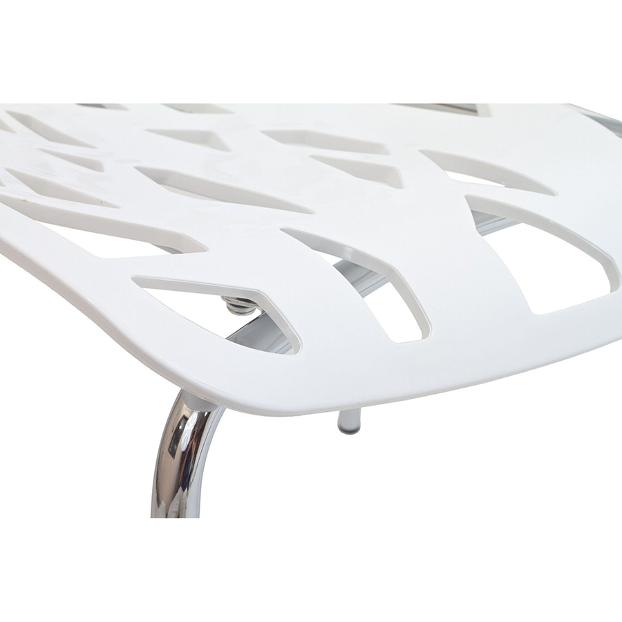 Sequoia White Modern Dining Chair - Seat Detail