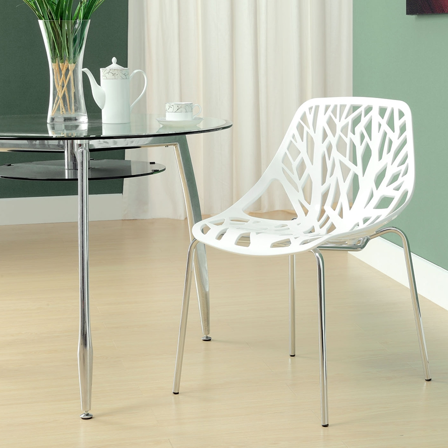 Sequoia Contemporary White Dining Chair
