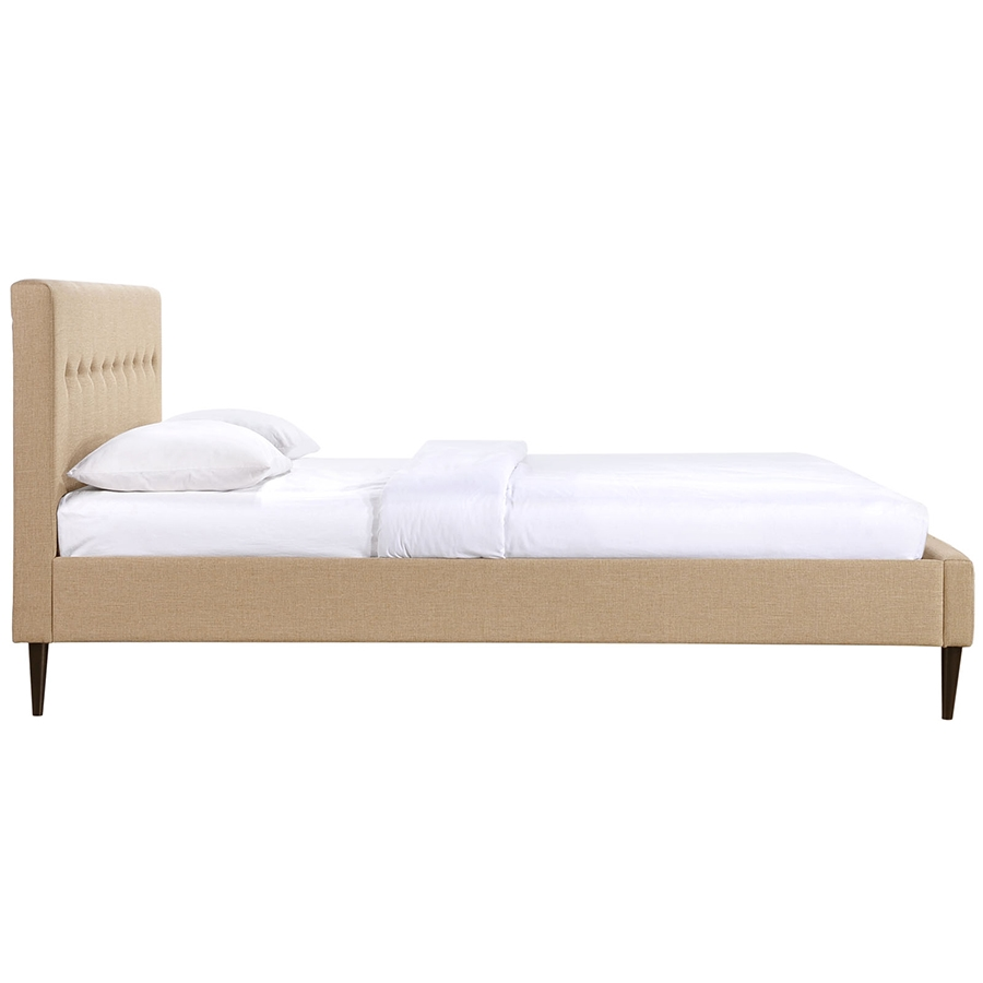 Seymour Cafe Modern Platform Bed - Side View